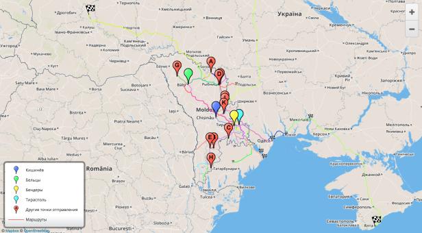 Карта маршрутов. Кликните чтобы посмотреть