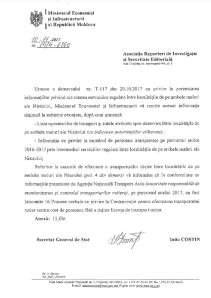 Ответ Министерства транспорта Молдовы. Кликните чтобы посмотреть